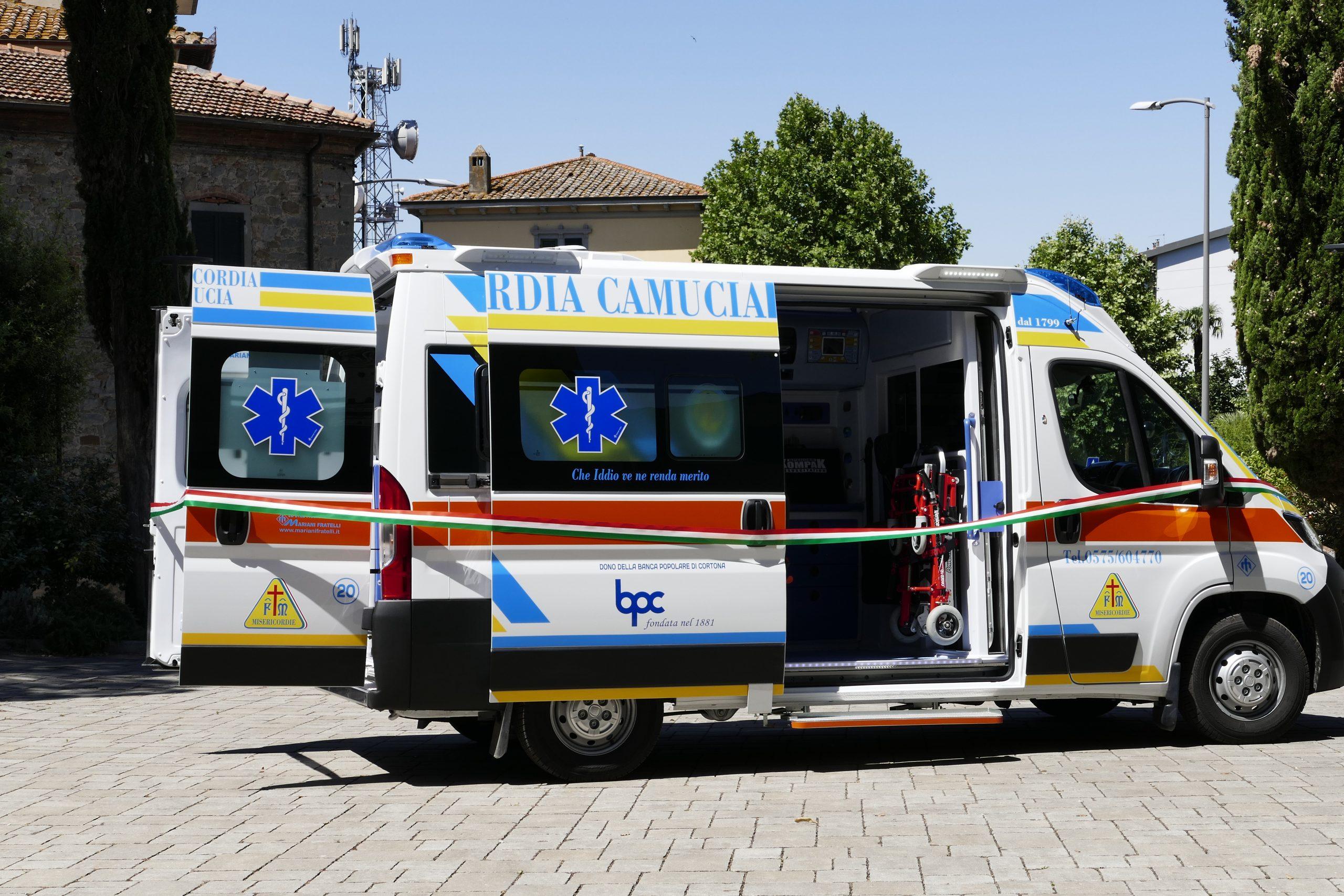 News, eventi, attività, servizi offerti dalla Misericordia di Camucia-Calcinaio